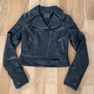 Express Genuine Leather Motorcycle Jacket